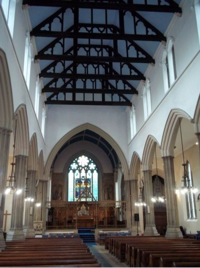 The completed new nave ceiling